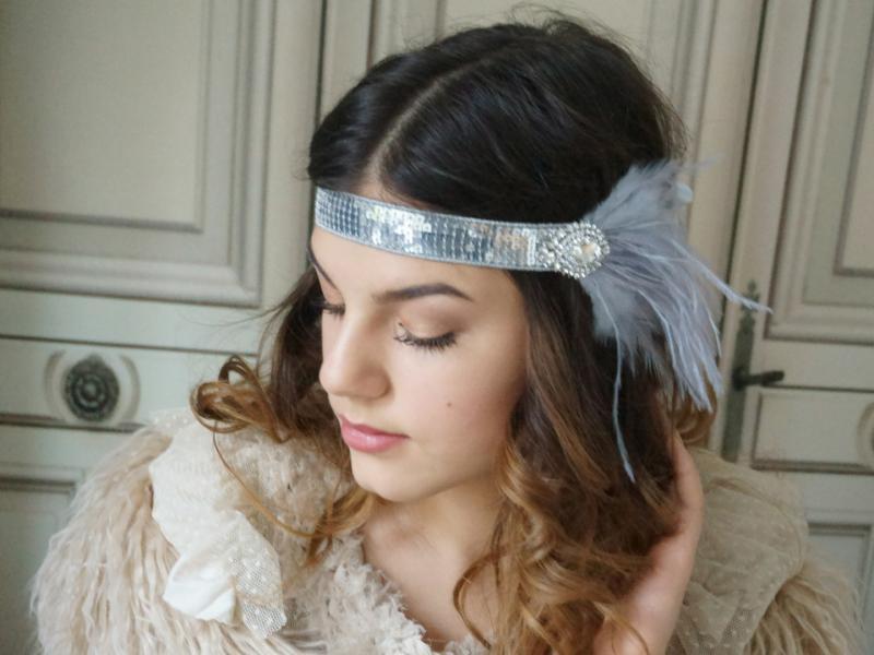 schöner Stil Stufen von feinste Auswahl Haarband 20er Emily
